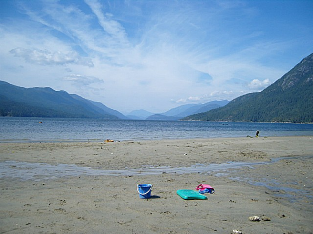 sandy beach at porpoise dr
