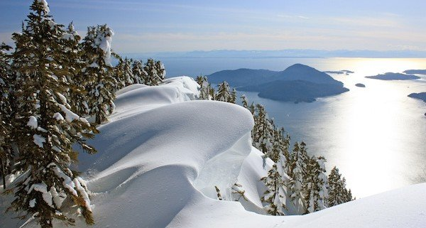 Where the Pacific Ocean meets the mountains: Winter Landscape near Vancouver, British Columbia, Canada