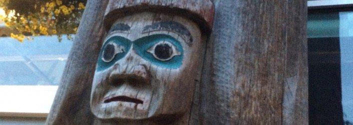 native totem pole sunshine coast