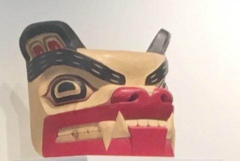Squamish Nation Bear Carving at GPAG