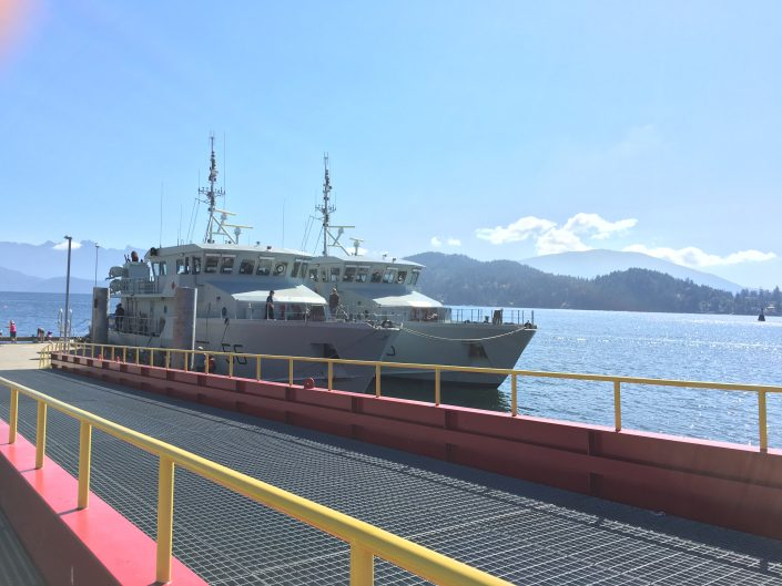 navy ships in gibsons harbour
