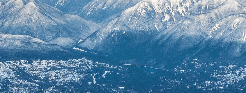 vancouver and snowy coast mountains