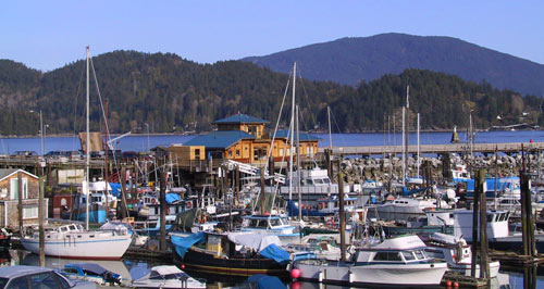 Marina and Gazebo at Gibsons BC