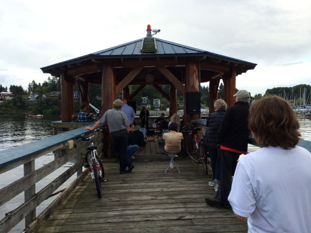 Music in the Landing, Summertime in Gibsons BC