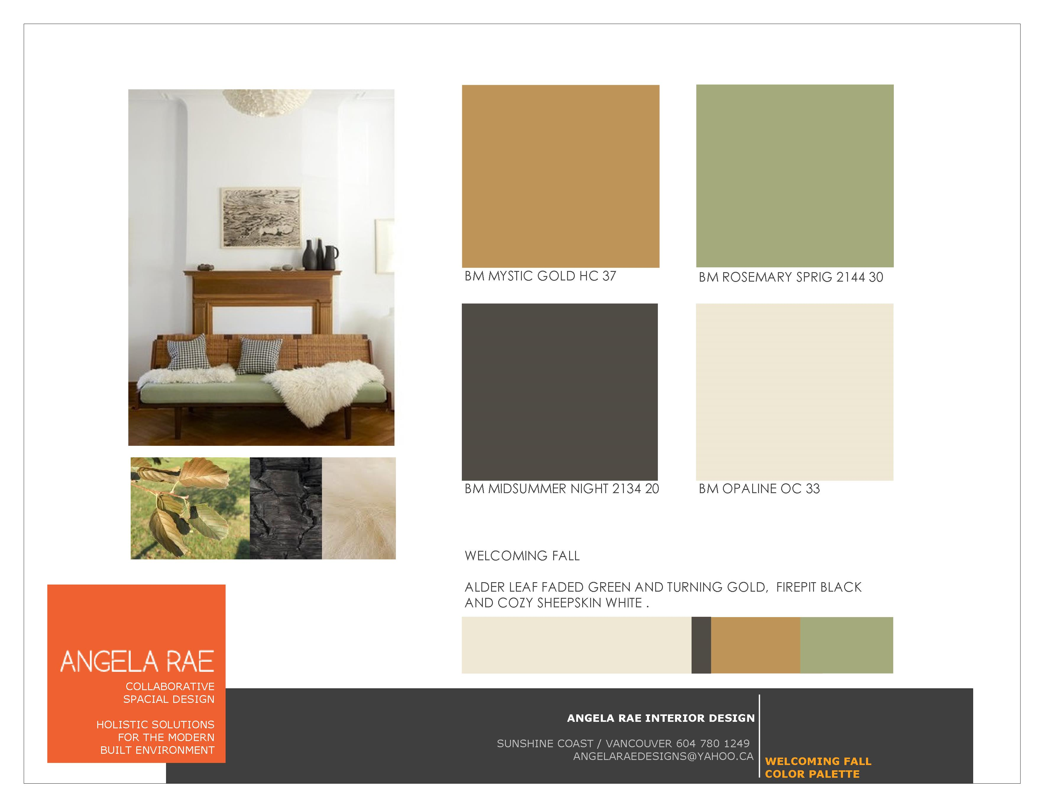 Fall colour palette inspiration from angela rae interior design coast lifestyles network for Color palette for interior design