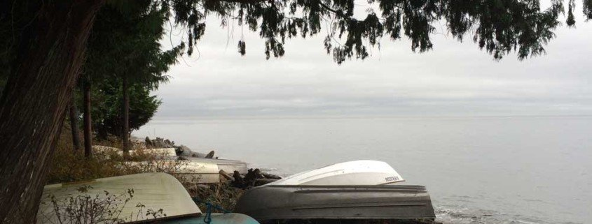Boats along Bonniebrook Beach Gibsons