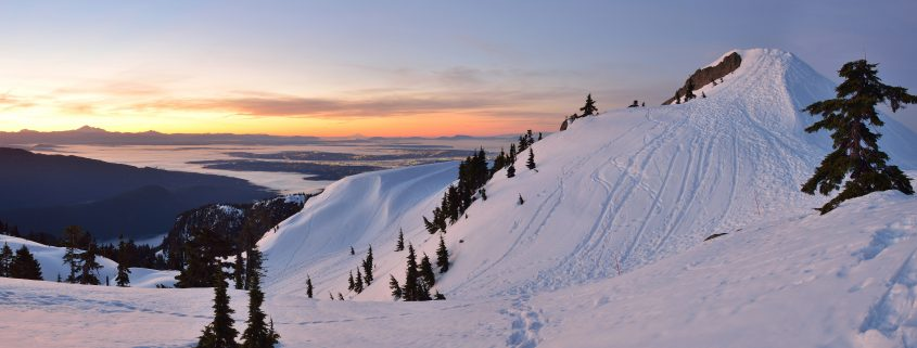 Mt. Seymour First Pump Peak winter sunrise, Vancouver, BC