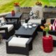 Sunshine Coast BC Cozy Patio Furniture on Luxury Outdoor Patio